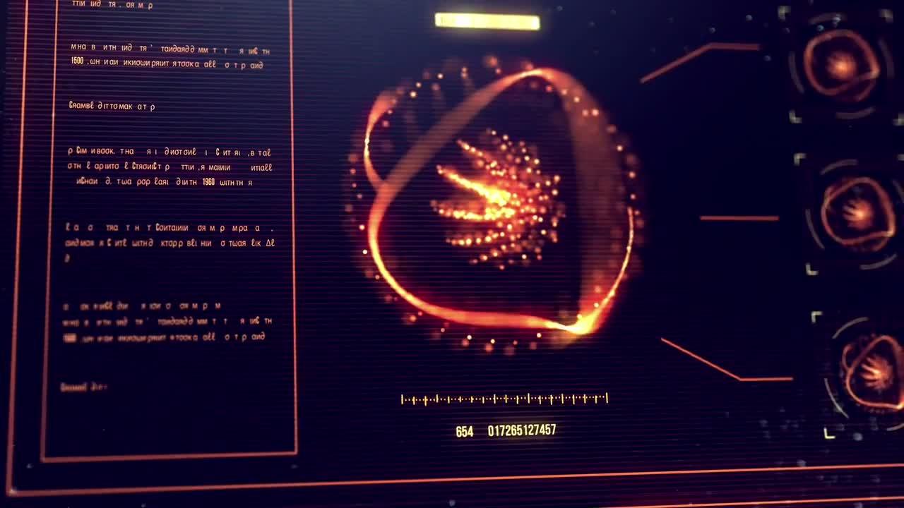 AE模板:高科技信息化 游戏ui界面 片头logo展示模板Motionarray HUD Logo Array