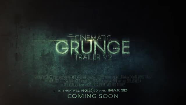 Cinematic Grunge Trailer: After Effects Templates