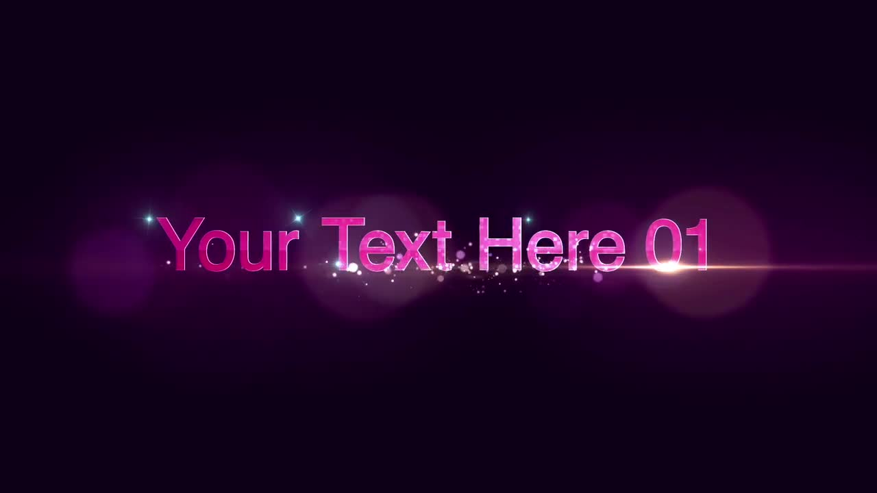 Glam Text: After Effects Templates
